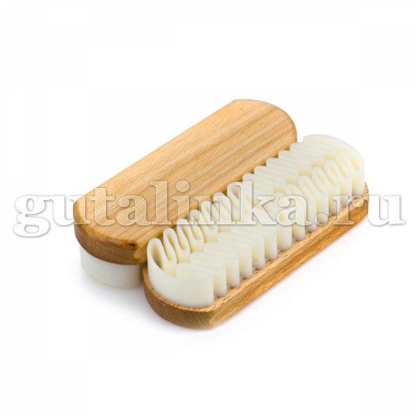 Щётка для обуви для кожи велюрнубук с натуральным каучуком Handburste Naturkrepp SOLITAIRE - 904534