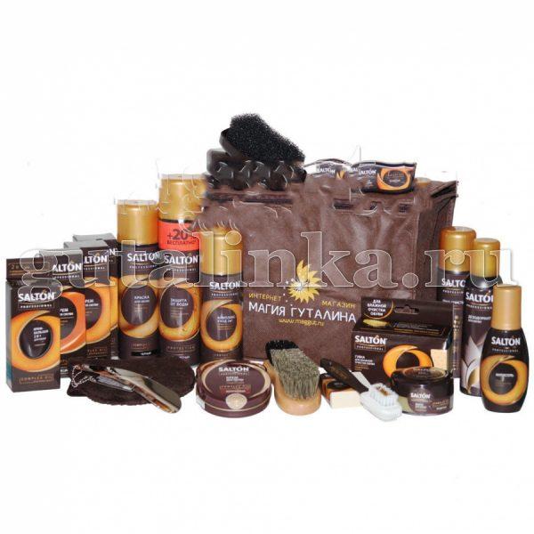 Набор обувной косметики SALTON Professional в косметичке - SLN01-001