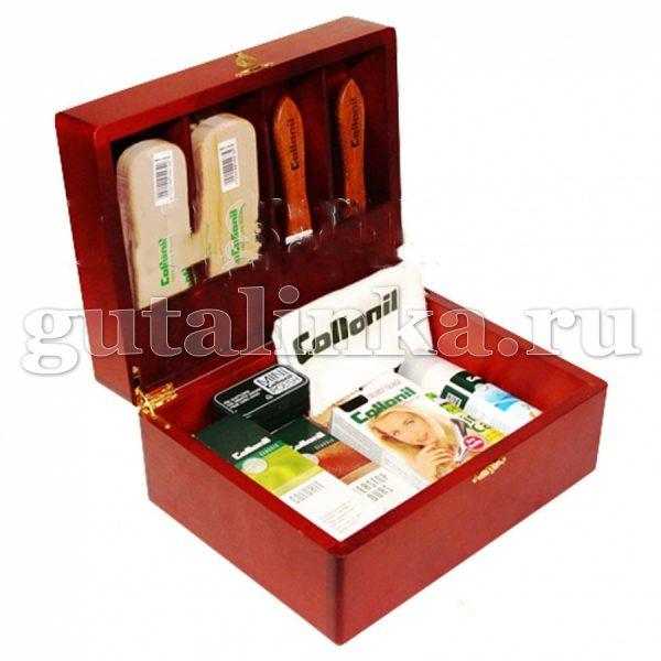Шкатулка деревянная с набором обувной косметики COLLONIL -