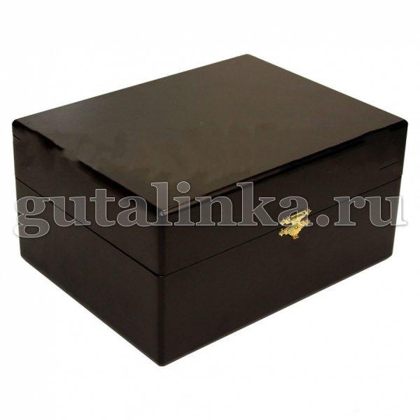 Шкатулка деревянная с набором обувной косметики DUKE OF DUBBIN универсал -