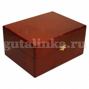 Шкатулка деревянная с набором обувной косметики SALAMANDER для гладкой кожи -