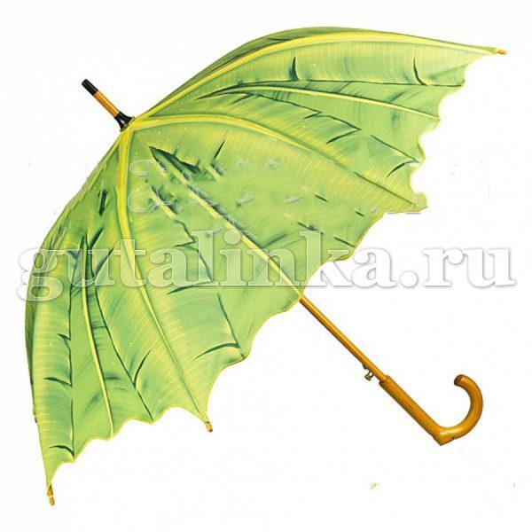 """VON LILIENFELD Зонт-трость полуавтоматический """"Пальмовые листья"""" купол 100 см - 5600A"""