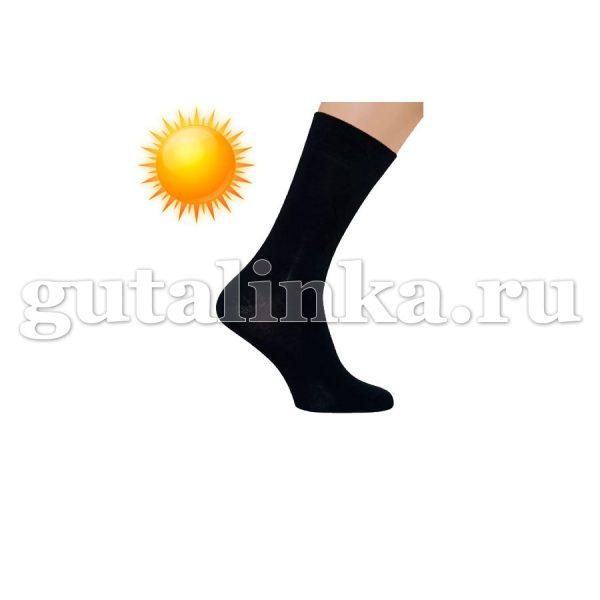 Носки мужские SAPHIR черные хлопок 80 нейлон комфорт 20 -