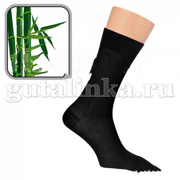 Носки мужские SAPHIR черные бамбук 80 нейлон комфорт 20 -