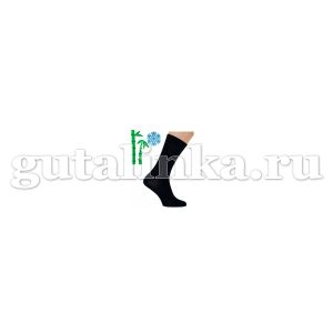 Носки мужские SAPHIR черные шерсть 90 бамбук 10 -