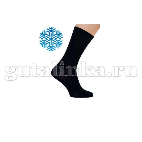 Носки мужские SAPHIR черные шерсть 80 кулмакс 20 -