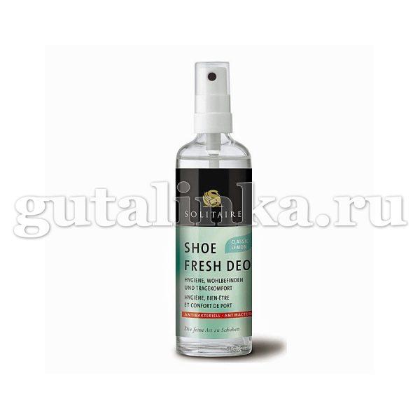 Бактерицидный дезодорант для обуви Shoe Fresh Deo SOLITAIRE с запахом лимона стекло 100 мл - 905555
