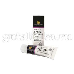 Пропитка и уход для жированной кожи Rustikal Fettleder creme SOLITAIRE тюбик с губкой 75 мл - 905376