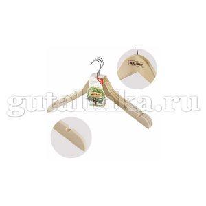 Набор вешалок 3 шт деревянная изогнутая 4451216 см без перекладины с 2 выемками VALIANT - VAL 19300S