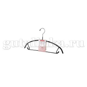 Вешалка 42 см с закругленными плечиками перекладиной и крючками с противоскользящим покрытием VALIANT - VAL 213R11
