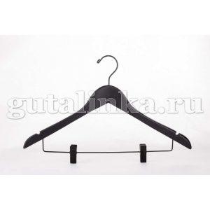 Вешалка деревянная с перекладиной и зажимом для брюк 445 см LUMINELLO COLLECTION -