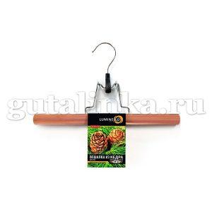 Вешалка-зажим из кедра для юбок и брюк 28 см LUMINELLO COLLECTION - WH-117