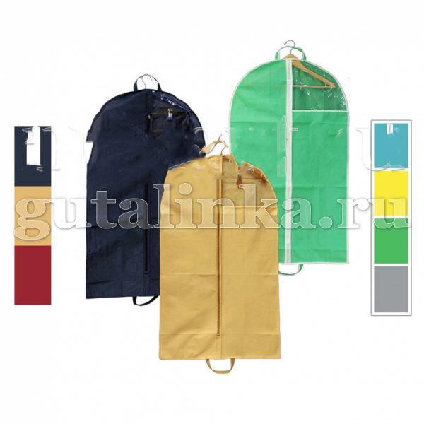 Чехол для одежды плоский 80х60 см с ручками окошком и молнией Магия Гуталина -