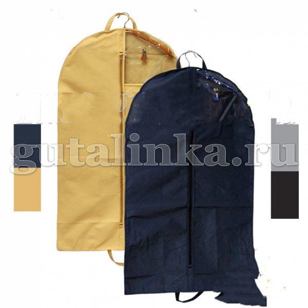 Чехол для одежды плоский 90х60 см с ручками окошком и молнией Магия Гуталина -