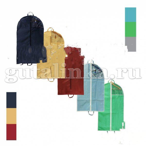 Чехол для одежды плоский 100х60 см с ручками окошком и молнией Магия Гуталина -