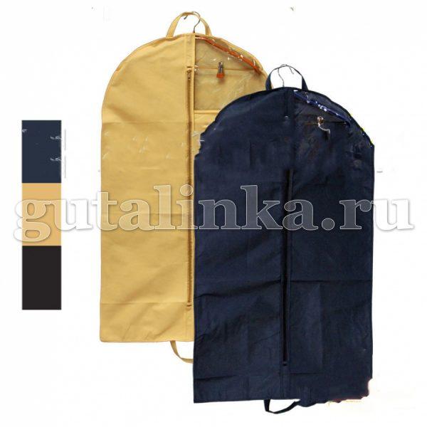 Чехол для одежды плоский 110х60 см с ручками окошком и молнией Магия Гуталина -