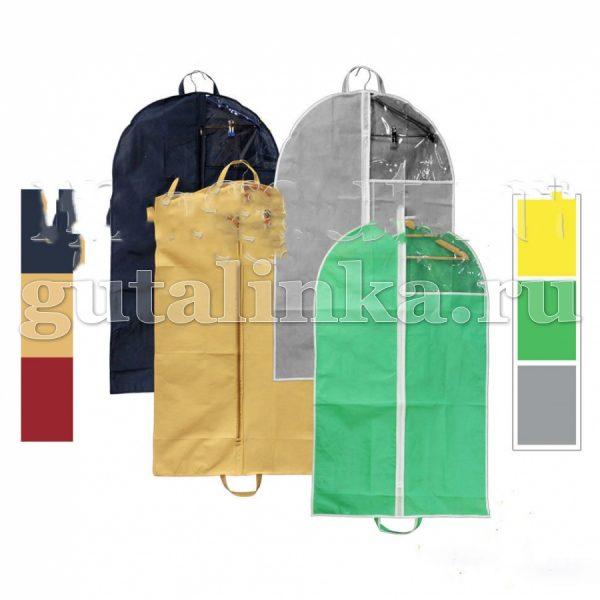 Чехол для одежды плоский 120х60 см с ручками окошком и молнией Магия Гуталина -