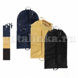 Чехол для одежды плоский 140х60 см с ручками окошком и молнией Магия Гуталина -