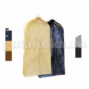 Чехол для меховой и верхней одежды объёмный 120х65х10 см с ручками окошком и молнией Магия Гуталина -