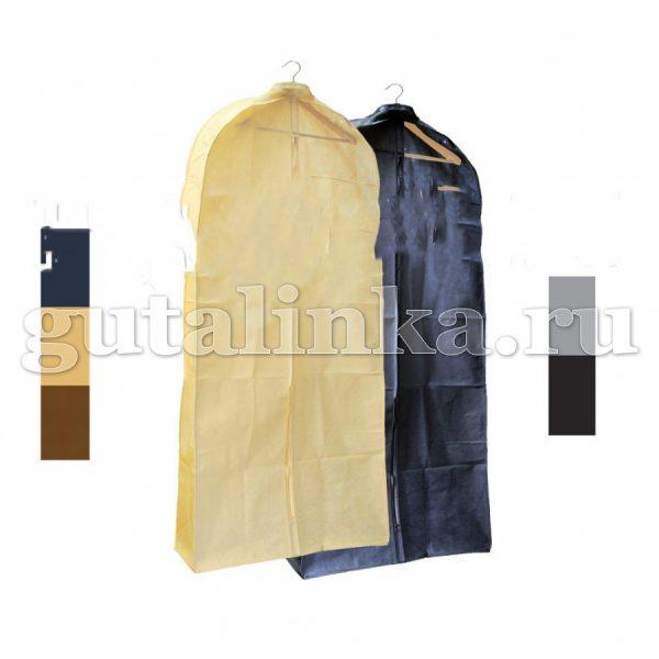 Чехол для меховой и верхней одежды объёмный 140х65х10 см с ручками окошком и молнией Магия Гуталина -