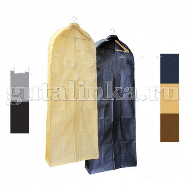 Чехол для меховой и верхней одежды объёмный 160х65х10 см с ручками окошком и молнией Магия Гуталина -