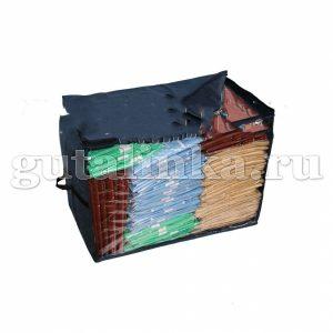 Чехол-ящик для хранения вещей 60х45х35 см с окошком ручками и молнией Магия Гуталина -