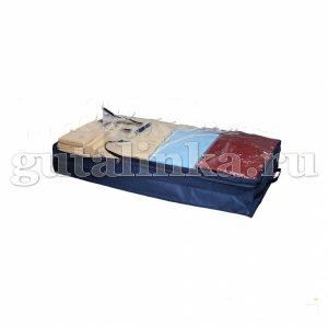 Чехол-ящик для хранения вещей 100х45х15 см с окошком ручками и молнией Магия Гуталина -