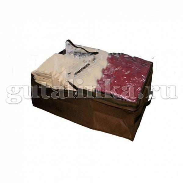 Чехол-ящик для хранения вещей 50х25х40 см с окошком ручками и молнией Магия Гуталина -
